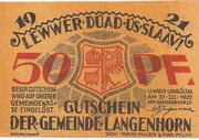 50 Pfennig (Langenhorn) – avers