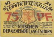 75 Pfennig (Langenhorn) – avers