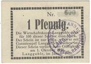 1 Pfennig (Langguhle) – avers