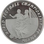 50 Kip (Coupe du monde de football Mexique 86) – revers