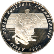 50 kip (coupe du monde de football Italie 1990) – revers