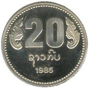 20 kip (10° anniversaire de la République Démocratique Populaire) – revers
