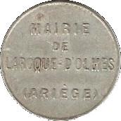 10 Centimes - Mairie de Laroque d'Olmes - Ariége [09] – avers
