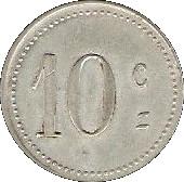 10 Centimes - Mairie de Laroque d'Olmes - Ariége [09] – revers