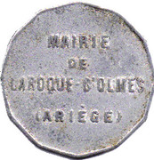 25 centimes - Mairie de Laroque d'Olmes -  Ariège [09] – avers