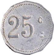 25 centimes - Mairie de Laroque d'Olmes -  Ariège [09] – revers