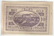 10 Heller (Lasberg) – avers