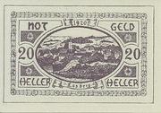 20 Heller 1920 (Lasberg) – avers