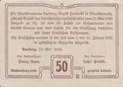 50 Heller (Lasberg) – revers
