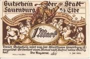 1 Mark (Lauenburg a. d. Elbe) – avers