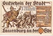 1 Mark (Lauenburg a. d. Elbe) – revers