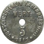 5 Pfennig - Lauenburg – avers