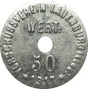 50 Pfennig - Lauenburg an der Elbe – avers