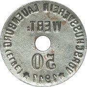 50 Pfennig - Lauenburg an der Elbe – revers