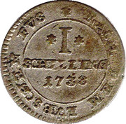 1 shilling Georg II. August -  revers