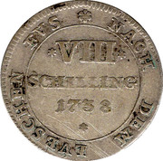 8 schilling Georg II. August – revers