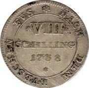 8 schilling Georg II. August – revers