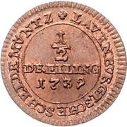 ½ Dreiling - George II. – revers