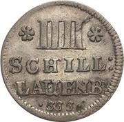 4 Schilling - Georg Wilhelm II. – revers