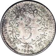 ⅔ Thaler - Friedrich VI von Dänemark – revers