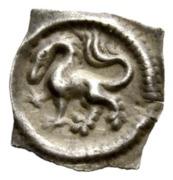 """1 Pfennig """"Vierzipfliger Löwenpfennig"""" – avers"""