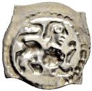 """1 Pfennig """"Vierzipfliger Löwenpfennig"""" – revers"""