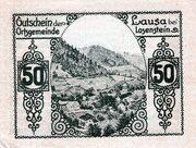 50 Heller (Lausa bei Losenstein) -  revers