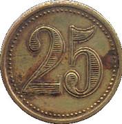 25 centimes - union commerciale & industrielle viganaise - Le Vigan [30] – revers