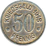 50 pfennig - Leer in Ostfriesland – revers