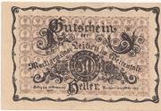 50 Heller (Leiben) – avers