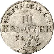 3 Kreuzer - Karl Friedrich Wilhelm – revers