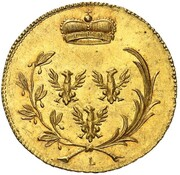 6 kreuzer Karl Friedrich Wilhelm (Frappe essai en or) – avers