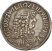 1 Guldenthaler - Georg Wilhelm – avers