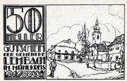 50 Heller (Lembach im Mühlkreis; Brown issue) -  revers