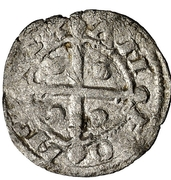 Dinero Alphonse IX La Corogne – avers