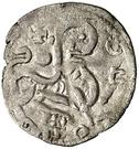 Dinero Alphonse IX La Corogne – revers