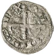 Dinero Alphonse IX León – avers