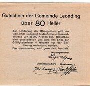 80 Heller (Leonding) -  revers