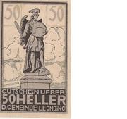 50 Heller (Leonding) -  avers