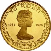 50 Maloti - Moshoeshoe II (Indépendance) – revers