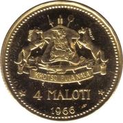 4 Maloti - Moshoeshoe II (Indépendance) – revers