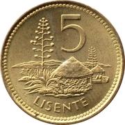 5 lisente -  revers