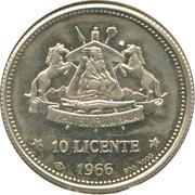 10 Licente  (Indépendance) – revers