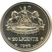 20 Licente  (Indépendance) – revers