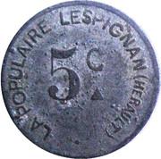 5 centimes - La Populaire - Lespignan [34] – avers