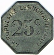 25 centimes - La Populaire - Lespignan (34) – avers