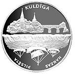 1 Lats (Kuldiga) – revers