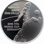 1 Lats (Coupe du monde de la FIFA 2006) – revers