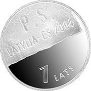 1 Lats (Lettonie-Union Européenne) – revers