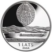 1 Lats (Latgale) -  avers